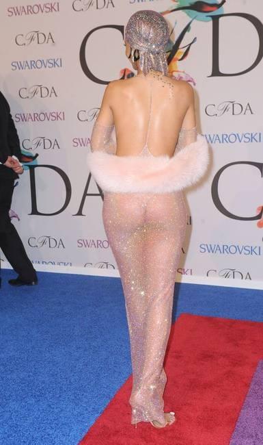 Рианна надела прозрачное платье