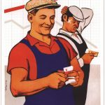 Советские плакаты про труд