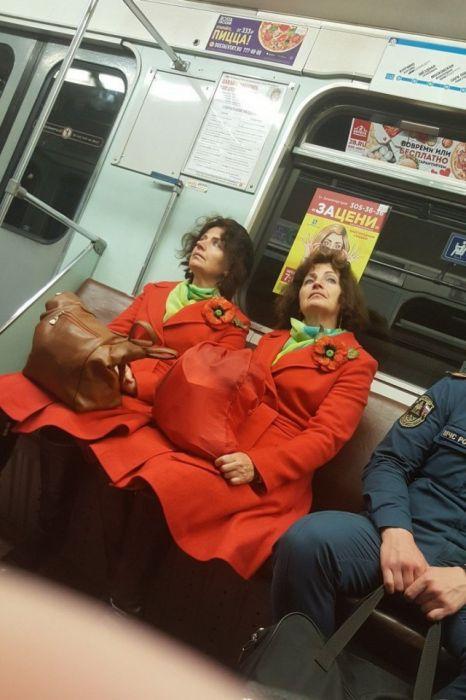 Необычные пассажиры в метро