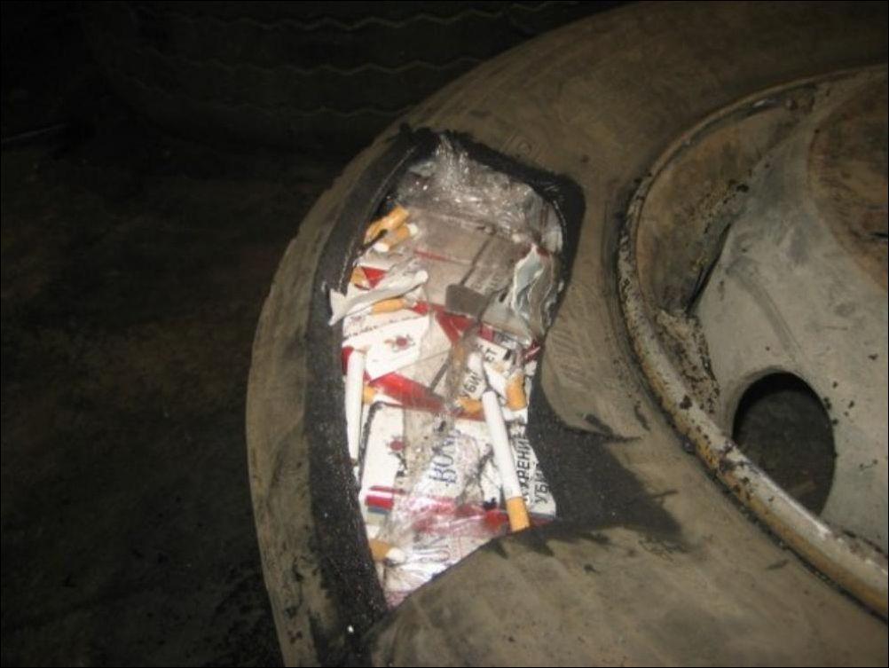 Хитрости контрабандистов сигарет