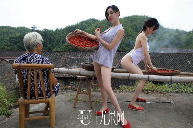 фотосессия фермерш в Китае
