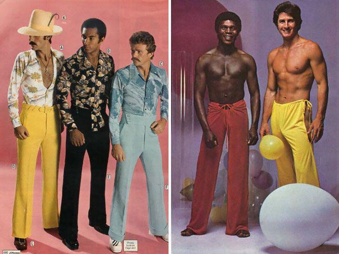 Мужская мода 70-х (25 ретро фото)
