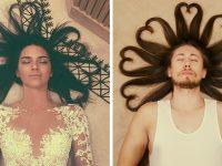Парни пародируют гламурные фотографии девушек