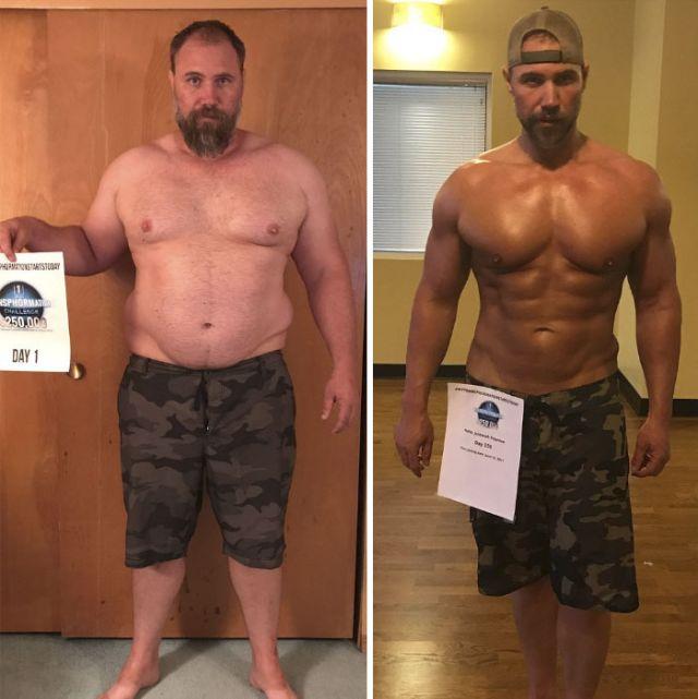 Удивительное преображение мужчины, похудевшего почти на 40 кг (10 фото)