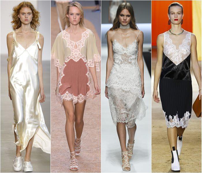 Платья в виде ночных сорочек