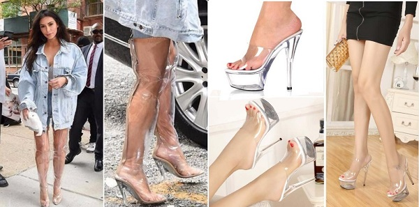 обувь из прозрачного пластика