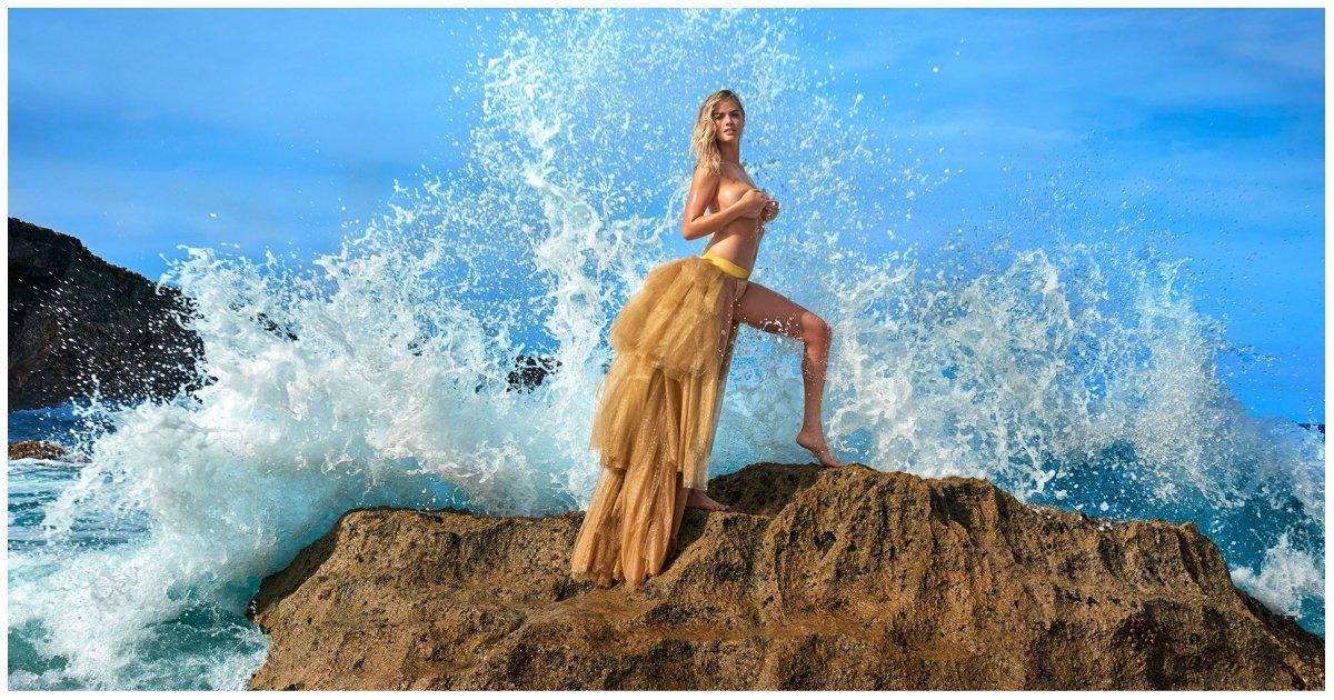 Модель Кейт Аптон упала в море во время откровенной фотосессии (46фото+1видео)
