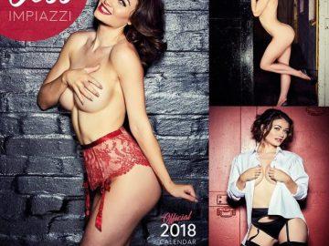 Красивая модель разделась для календаря (7 фото)