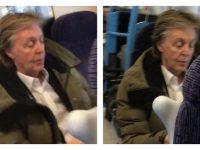 Поближе к народу: Пола Маккартни заметили в вагоне второго класса (5фото+1видео)