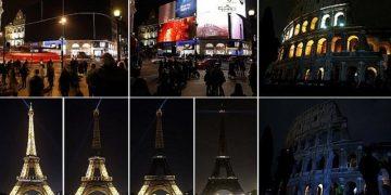 В Час Земли 180 стран погрузились в темноту (11фото+2видео)