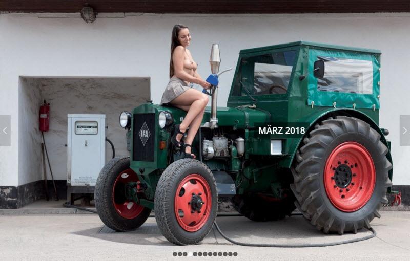 Немецкие девушки в горячем календаре 2018 года (13 фото)