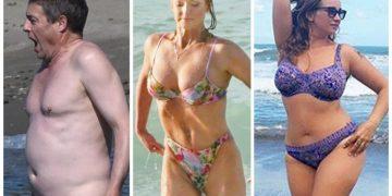 Ужасные телеса знаменитостей на пляже без фотошопа! (18фото)