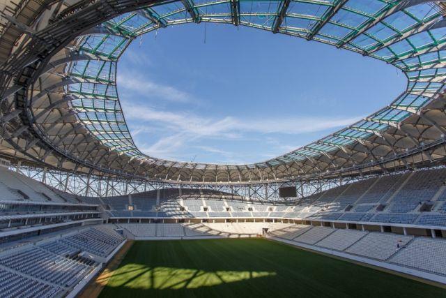 Туалеты на новом стадионе «Волгоград Арена», построенный к ЧМ-2018 (2 фото)