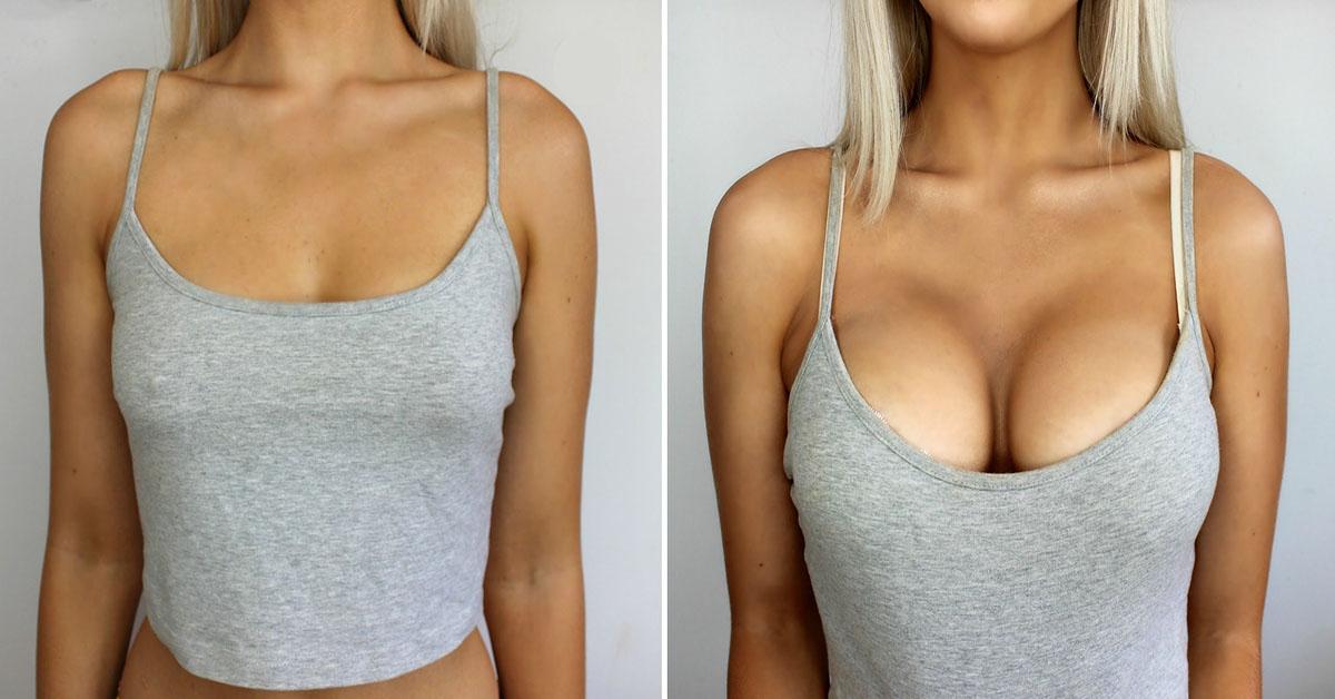 Как увеличить грудь девушке дома - учебное фото