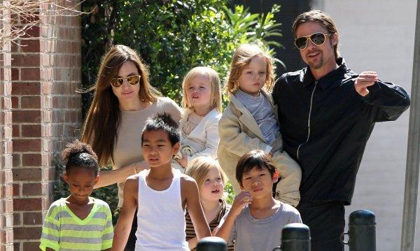Анджелина Джоли и Брэд Питт разделили своих детей