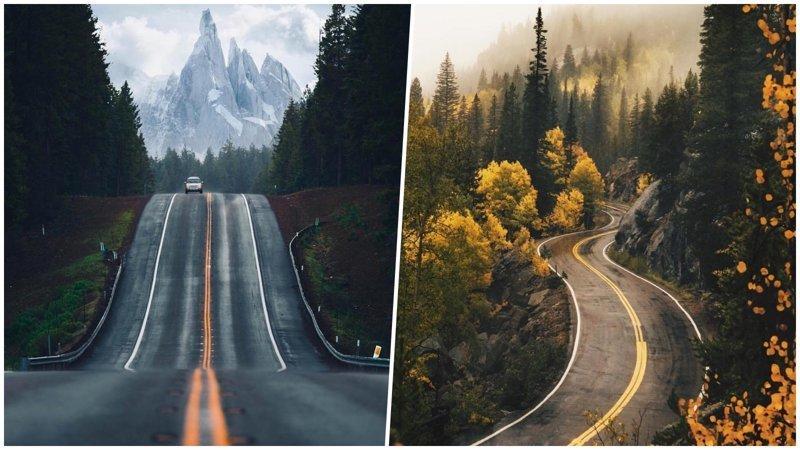 25 чудесных дорог, которые так и манят отправиться в путешествие (26фото)