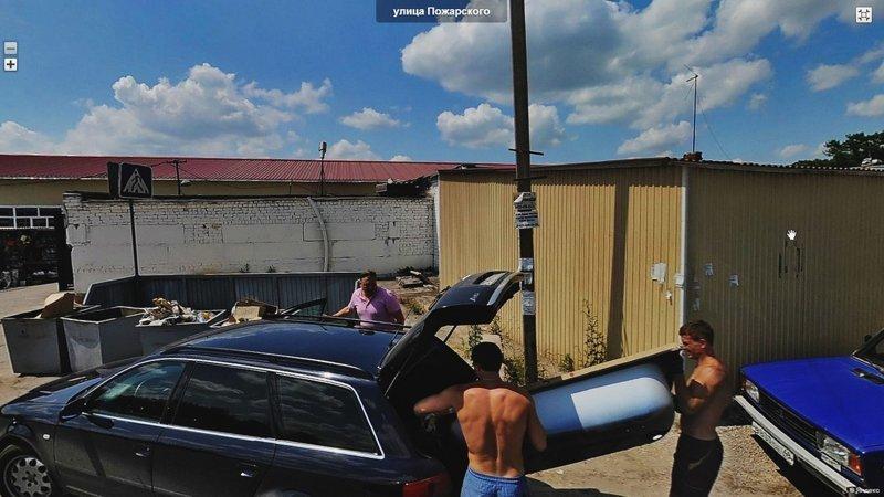 Кого увидели автомобили, которые снимают панорамы (30фото)