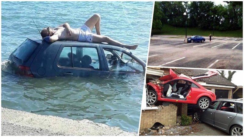 Приколы про авто: этим людям явно зря выдали права (25фото)