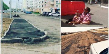 Так вот почему в России такие плохие дороги (26фото)