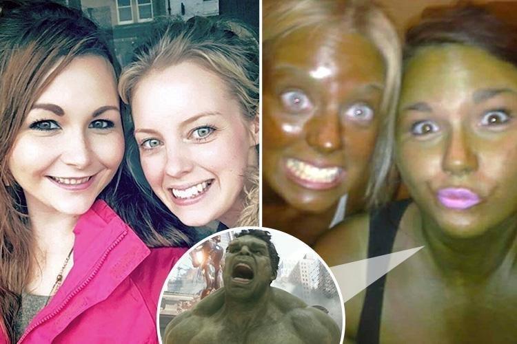 Две подруги стали жертвами экспериментальной косметики (5фото)