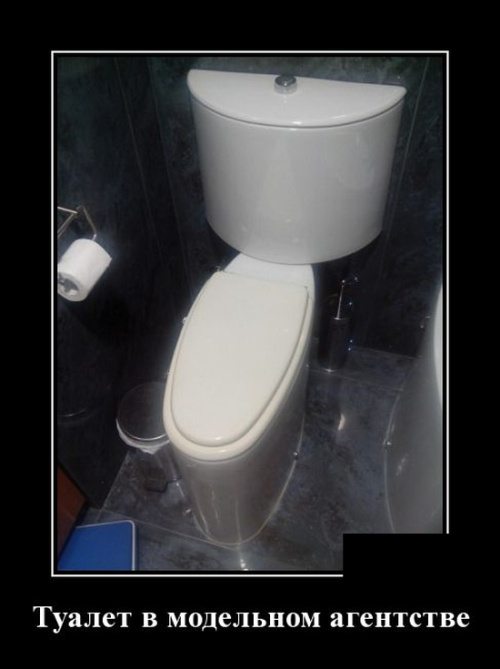 Новые смешные демотиваторы: туалет в модельном агентстве