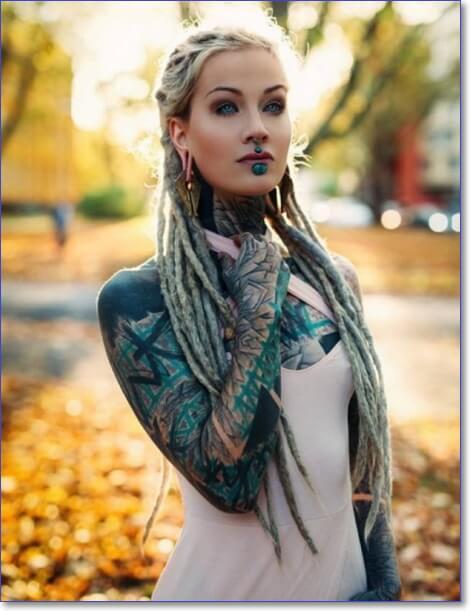 Мужские и женские татуировки. Татуированные люди (34 фото)