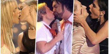 15 самых скандальных поцелуев звезд шоубиза и знаменитостей (13фото+3видео)