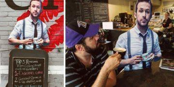 Владелице небольшого кафетерия в Торонто удалось заманить Райана Гослинга на чашечку кофе (13фото)