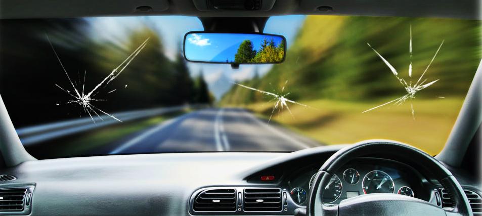 Виды повреждений автостекол