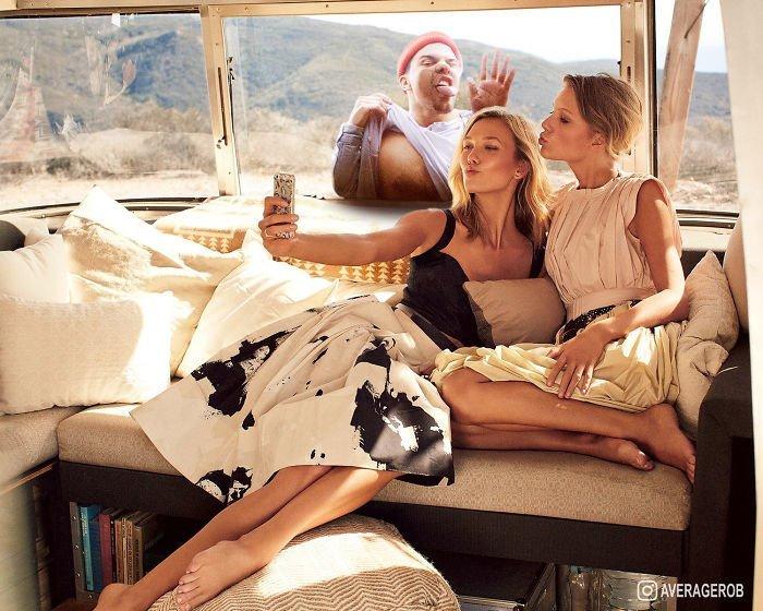 Фотошопер делает прикольные фото, добавляя себя на фотографии знаменитостей (14фото)