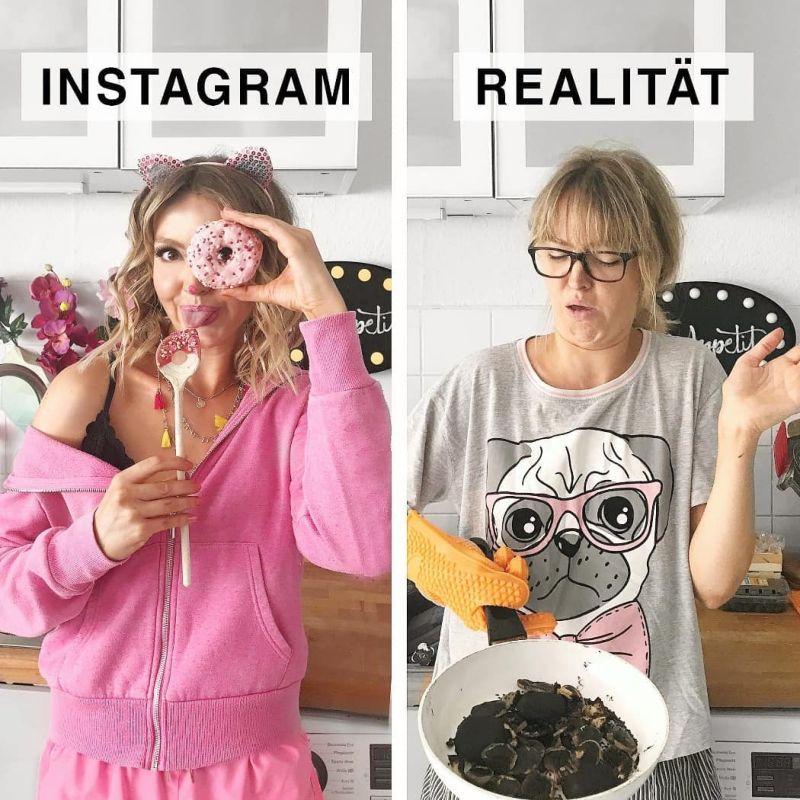 Девушка прикалывается над идеальными фотками из Инстаграма (18 фото)