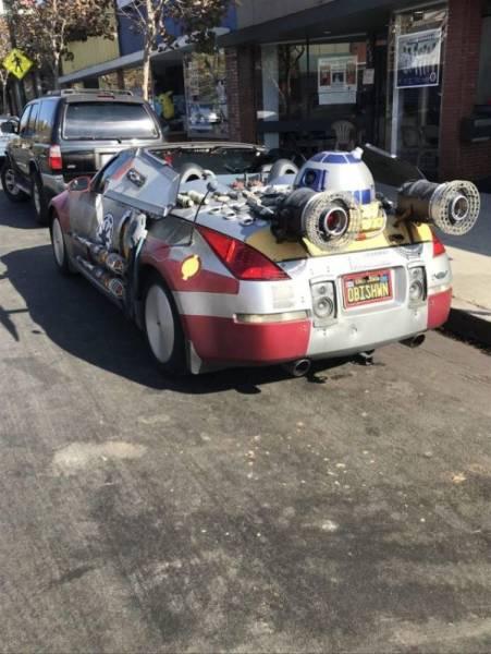 Прикольные автомобили и непонятные ТС чудаков (45 фото)