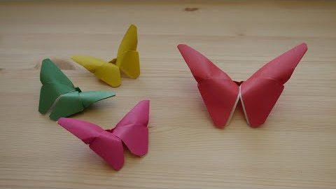 Оригами. Как сделать бабочку из бумаги (видео урок)