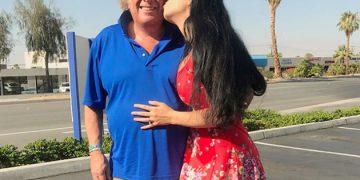 73-летний американский певец Дон Маклин и его 24-летняя возлюбленная Пэрис Дилан (12 фото)