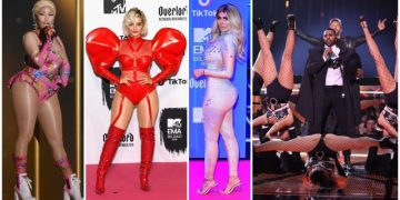 Пошлятина и безвкусица знаменитостей на премии MTV (15фото)