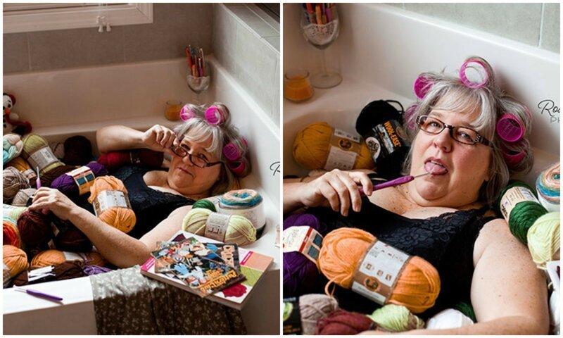 Дочь устроила матери забавную секси-фотосессию в ванной - и папа оценил! (17фото)