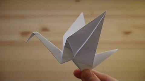 Оригами. Как сделать журавля из бумаги