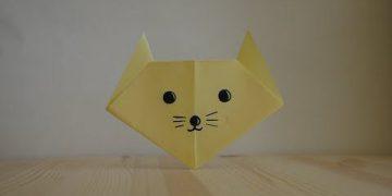 Оригами. Как сделать кота из бумаги