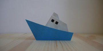 Оригами. Как сделать кораблик из бумаги