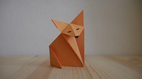 Оригами. Как сделать лису из бумаги