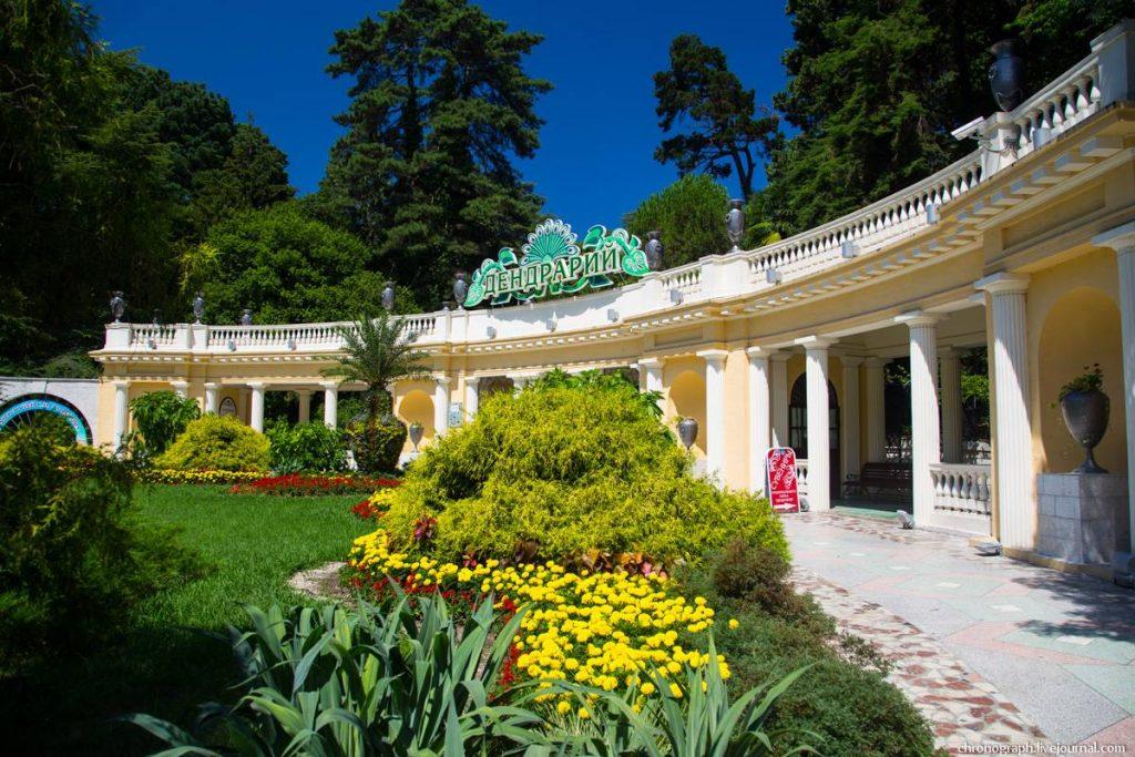 Парк Дендрарий в городе Сочи