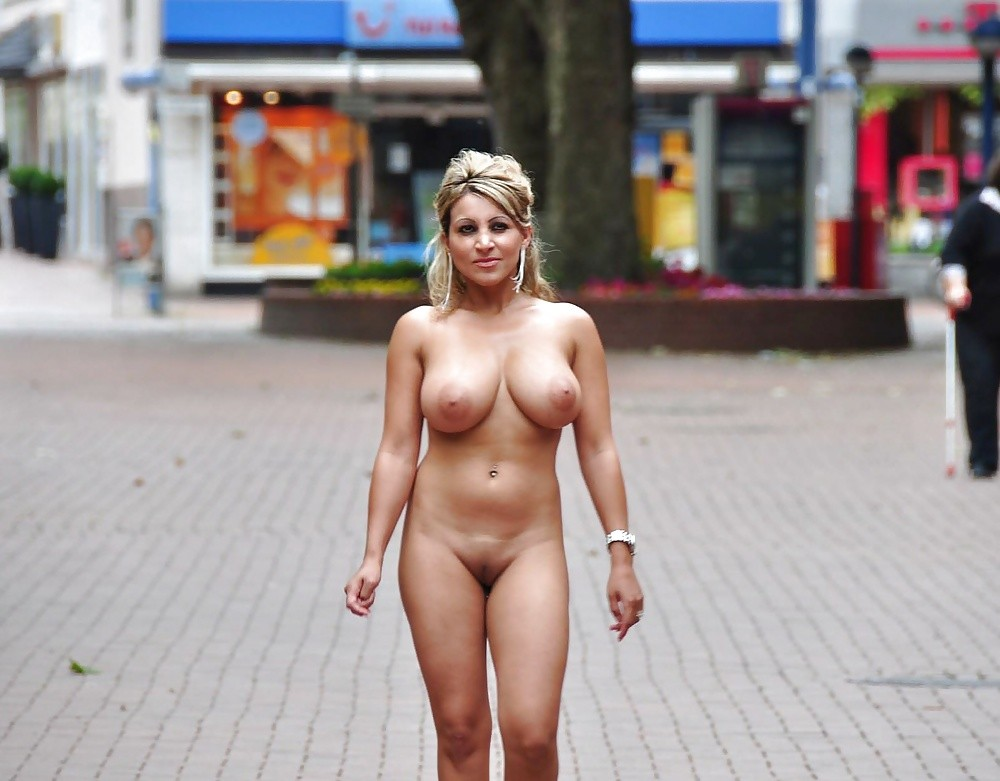 Nude walking women